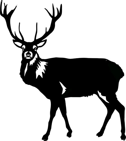 Deer Buck Laser Cut Out Silhouette Metal Sign 21.4x24