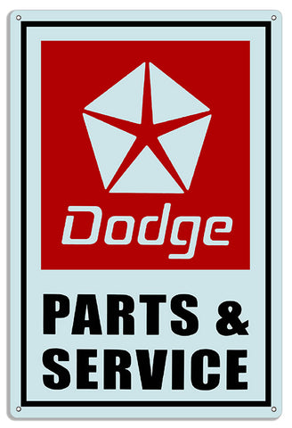 Dodge Parts Reproduction Gas Station Metal Sign 12x18