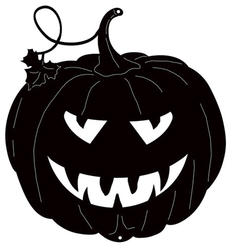 Jack O Lantern Cut Out Silhouette Wall Art Metal Sign 17.4x18.6
