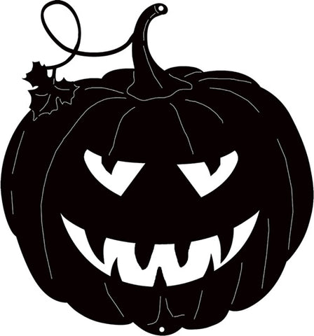 Jack O Lantern Cut Out Silhouette Wall Art Metal Sign 9.8x10.5