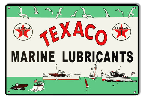 "Texaco Maine Lubricants 9""x12"".040 Aluminum Reproduction Garage Art Sign"