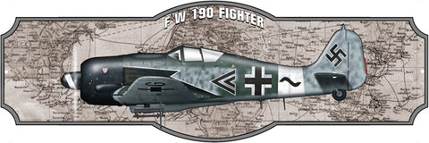 Airplane FW 190 Fighter Laser Cut Out Sign By Steve McDonald 8x24