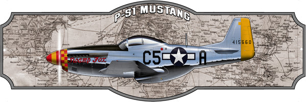 Airplane P51 Mustang Laser Cut Out Sign By Steve McDonald 8x24