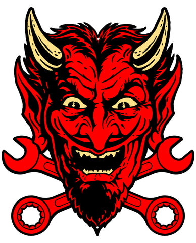 Devil Red Laser Cut Out Sign By Steve McDonald 18x22