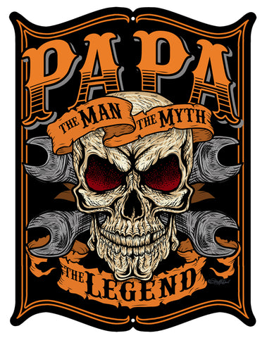 Papa The Man The Myth Cut Out Sign By Steve McDonald 14x18
