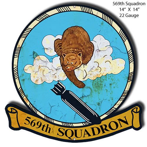 569th Squadron Laser Cut Out Military Metal Sign 14x14