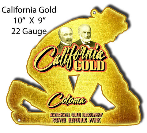 California Gold Coloma Cut Out Metal Sign By Phil Mailton 9x10