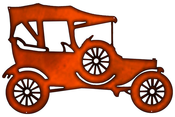 Model T Laser Cut Out Faux Copper Finish Metal Sign 15.5x23.5