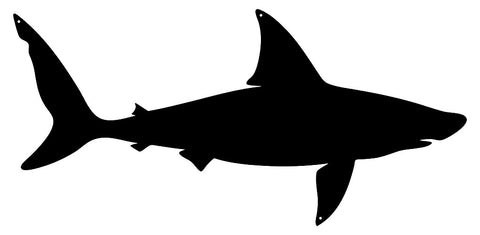 Shark Laser Cut Out Wall Décor  Silhouette Metal Sign 11x23.5