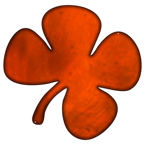 Four Leaf Clover Laser Cut Out Faux Copper Finish Metal Sign 17x17.5