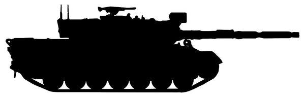 Army Tank Laser Cut Out Wall Décor Silhouette Metal Sign 7x23