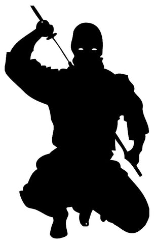 Ninja Warrior Laser Cut Out Wall Décor Silhouette Metal Sign 14.5x23.5