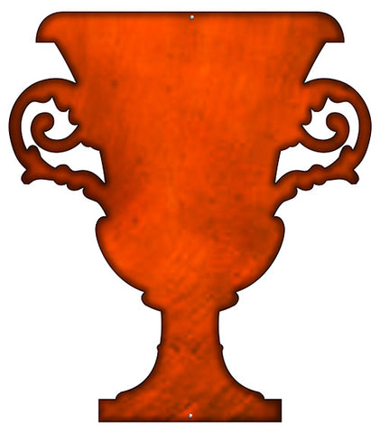 Goblet Laser Cut Out Faux Copper Finish Metal Sign 20.5x23.5