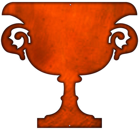 Goblet Laser Cut Out Faux Copper Finish Metal Sign 21x23