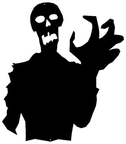 Zombie Laser Cut Out Wall Décor Silhouette Metal Sign 20x23
