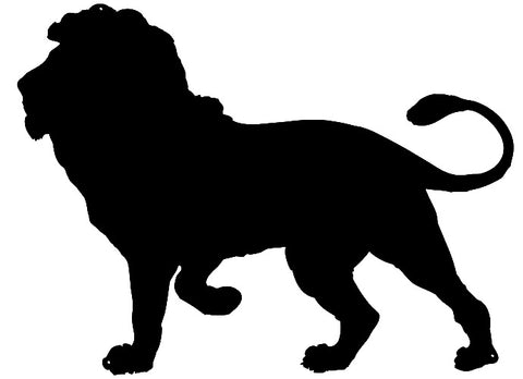 Lion Laser Cut Out Wall Décor Silhouette Metal Sign 20.5x28