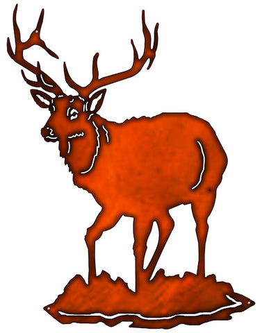 Reign Deer Laser Cut Out Faux Copper Finish Metal Sign 21x27.5