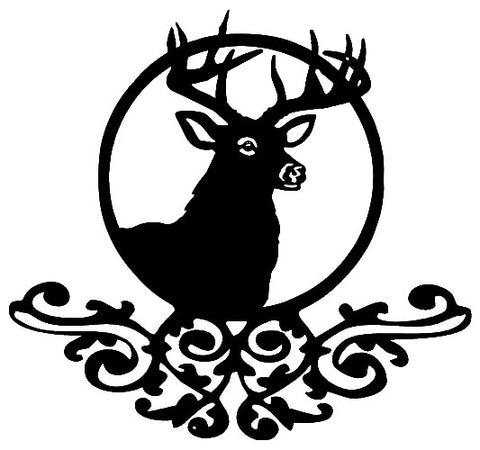 Deer With Filigree Cut Out Wall Décor Silhouette Metal Sign 22x24