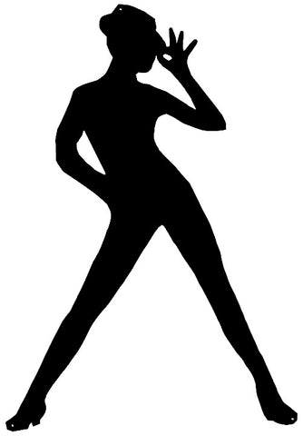 Sexy Lady Laser Cut Out Wall Décor Silhouette Metal Sign 23.5x34
