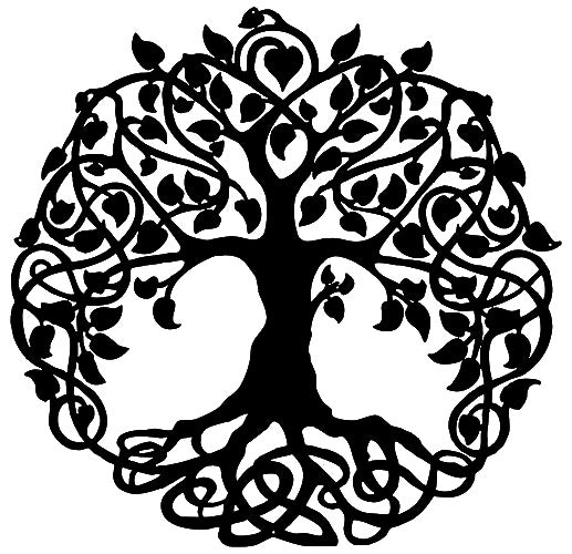 Tree Of Life Cut Out Wall Décor Silhouette Metal Sign 29x29.5