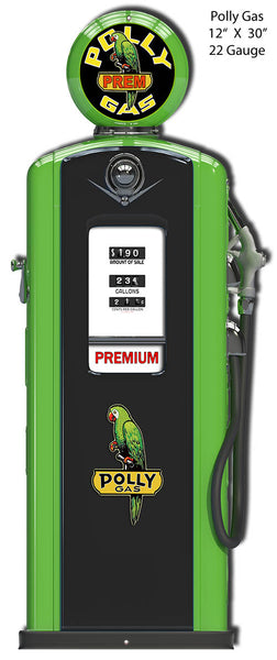Gas Pump Polly Laser Cut Out Garage Art Metal Sign 12x30