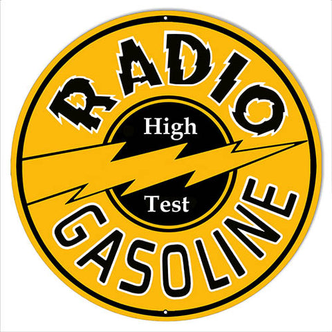 Radio Gasoline Reproduction Motor Oil Large Metal Sign 19x19