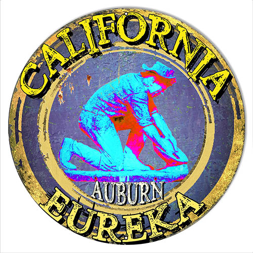 Eureka California Garage Art Man Cave Metal Sign  Phil Hamilton 14x14