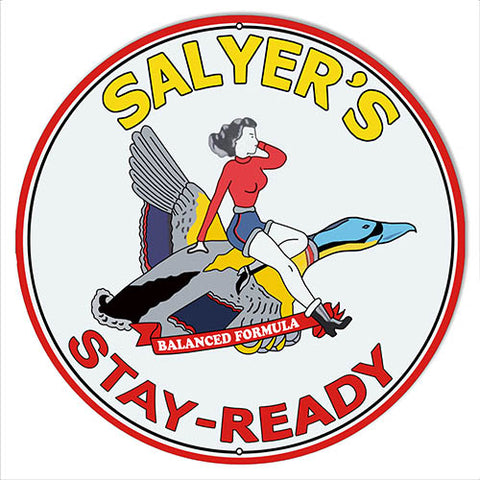 Salyers Motor Oil Reproduction  Garage Shop Large Metal Sign 18x18