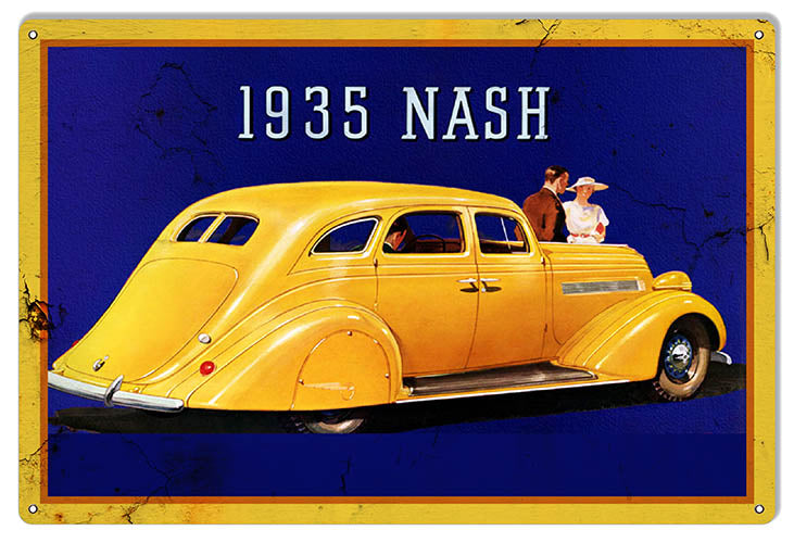 Nash Healey 1935 Series Reproduction Garage Shop Metal Sign 12x18