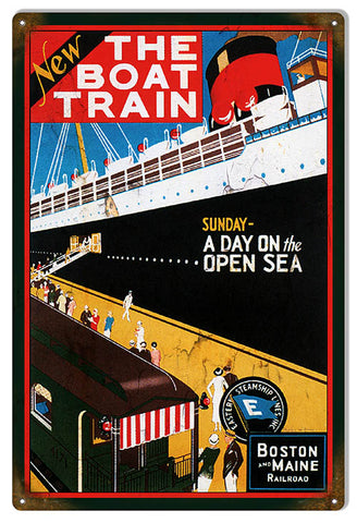 Eastern Steamship Lines Reproduction Nostalgic Metal Sign 12x18