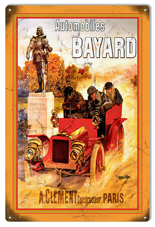 Bayard Automobiles Garage Art Reproduction  Metal Sign 12x18