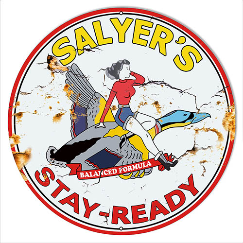 Salyers Motor Oil Reproduction Aged Looking Large Metal Sign 30x30