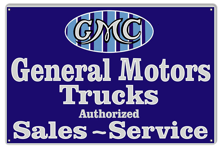 General Motors Trucks Reproduction Garage Art Large Metal Sign 16x24