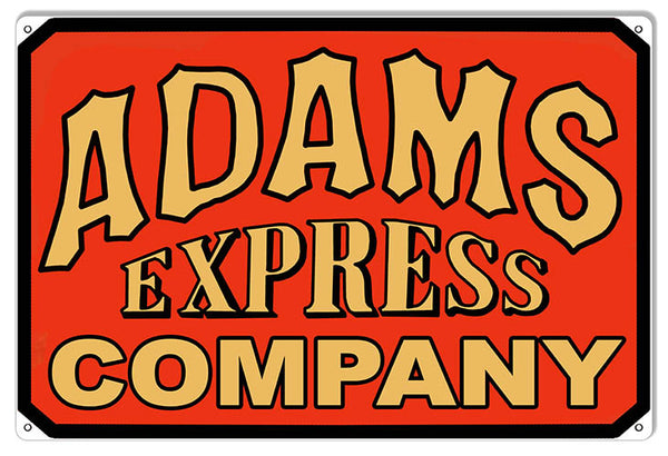 Adams Express Company Reproduction Metal Sign 12x18