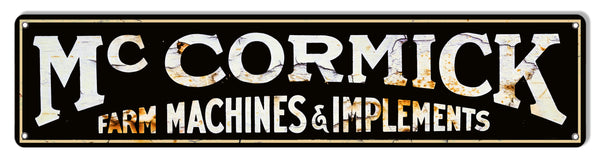 McKormick Farm Machines Reproduction Metal Sign 7x30