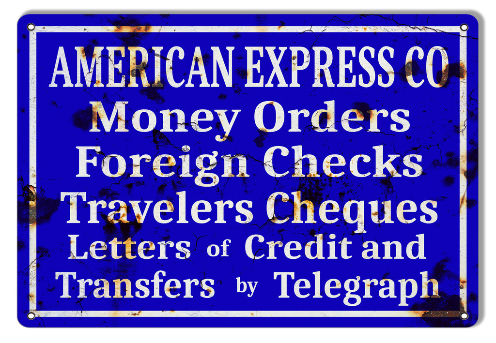 American Express Company Banking Vintage Reproduction Metal Sign 9x12