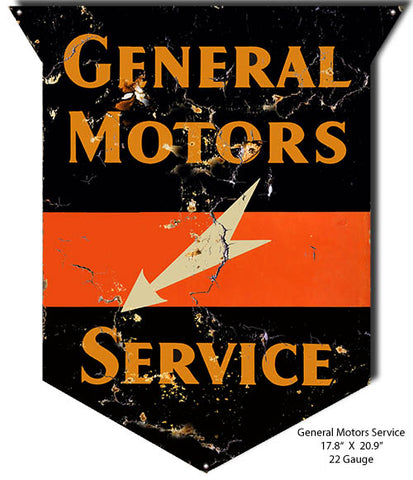 General Motors Service Vintage Reproduction Metal Sign 17.8x20.9