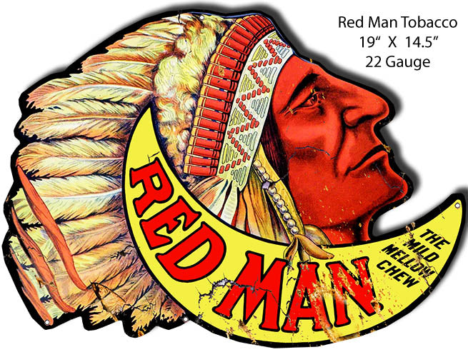 Red Man Tobacco Vintage Reproduction Metal Sign 19x14.5