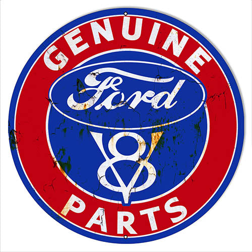 Genuine Ford Parts Vintage Reproduction Metal Sign 18x18