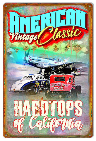 American Vintage Classics Metal Sign By Phil Hamilton 12x18