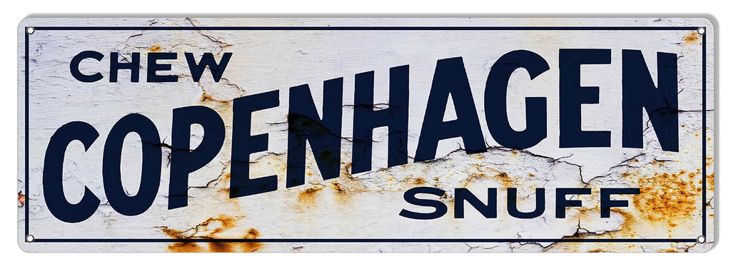 Copenhagen Snuff Reproduction Vintage Large Cigar Metal Sign 8x24