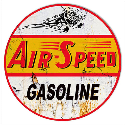 Air Speed Reproduction Vintage Motor Oil Metal Sign 24x24 Round