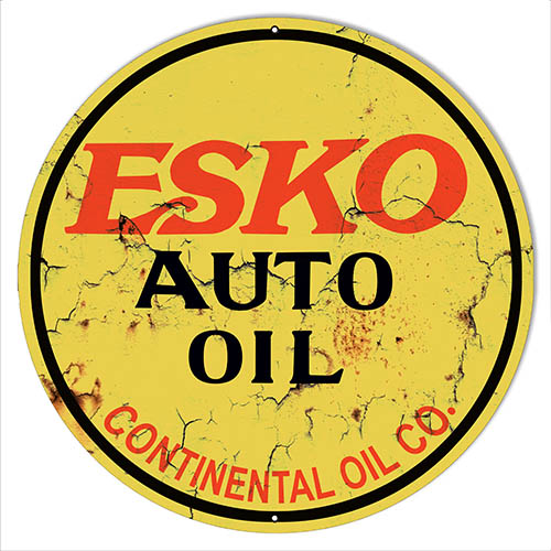 Esko Auto Oil Reproduction Vintage Garage Metal Sign 30x30 Round