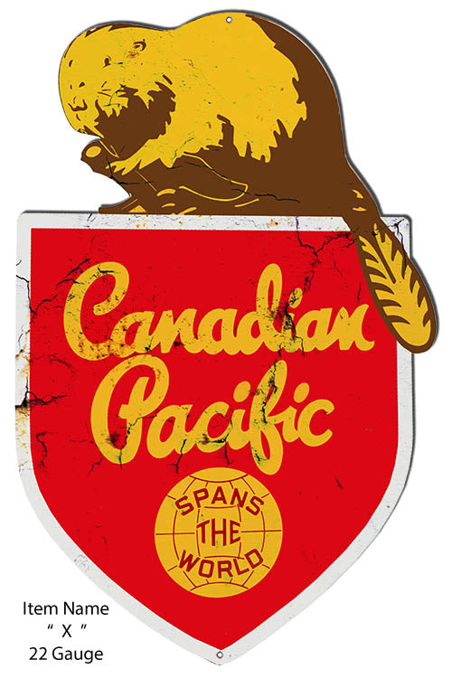 Canadian Pacific Reproduction Cut Out Railroad Metal Sign15x23.2
