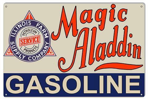 Magic Aladdin Gasoline Reproduction Large Motor Oil Metal Sign 16x24