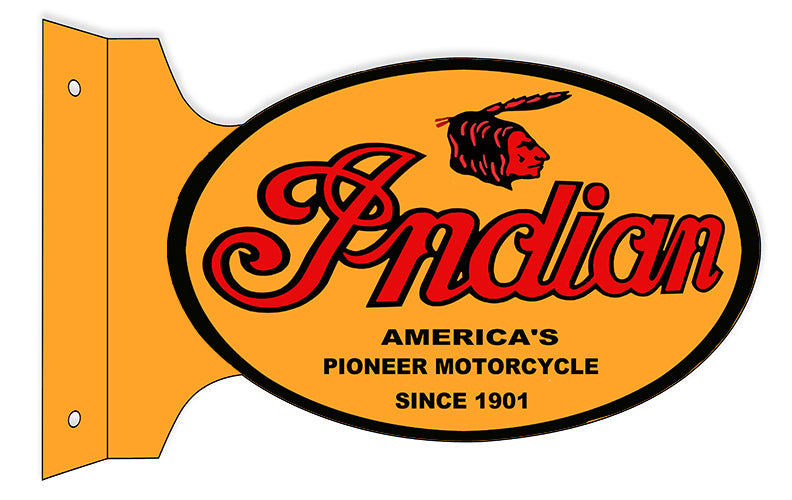 Indian Motorcycle 1901 Series Metal Sign 12x18