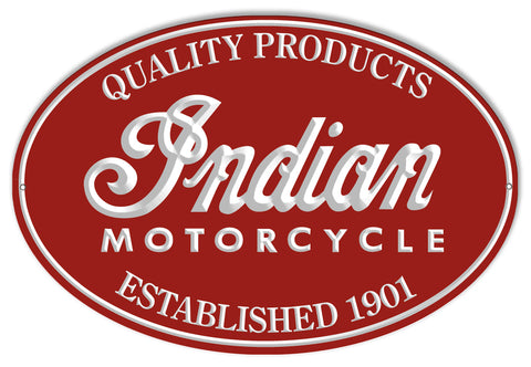 Indian Motorcycle 1901 Series Metal Sign 11x18