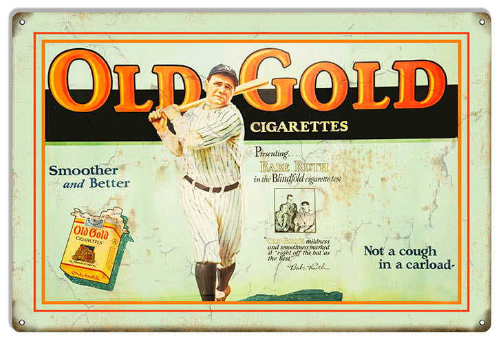Old Gold Cigarettes Reproduction Vintage Cigar Metal Sign 12x18