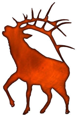 Deer Laser Cut Out Faux Copper Finish Wall Decor Metal Sign 15.5x24