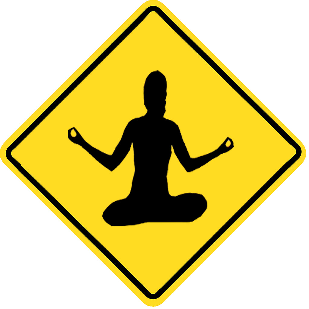 "Yoga Crossing Metal Sign 12"" x 12"""
